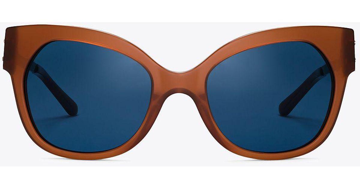 17cd7eca75 Lyst - Tory Burch Modern Cat-eye Sunglasses in Blue