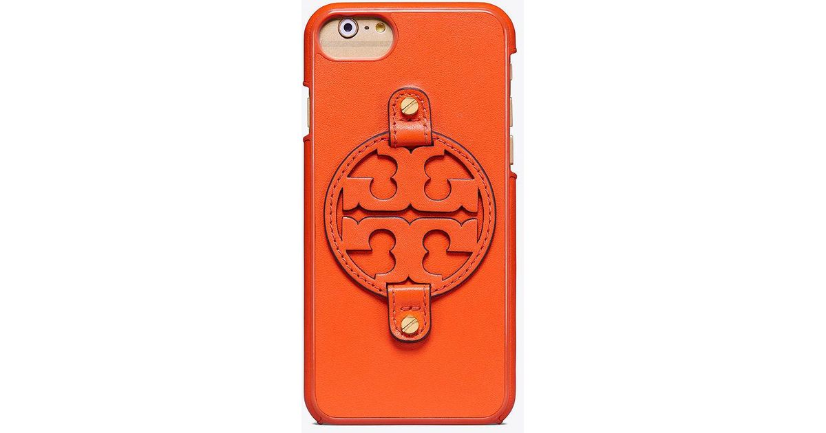buy online 7c4a4 9ac87 Tory Burch Multicolor Miller Leather Case For Iphone 8