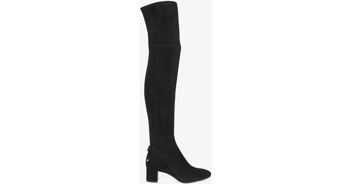 9ac613c0797 Lyst - Tory Burch Laila 45mm Over-the-knee Boots in Black