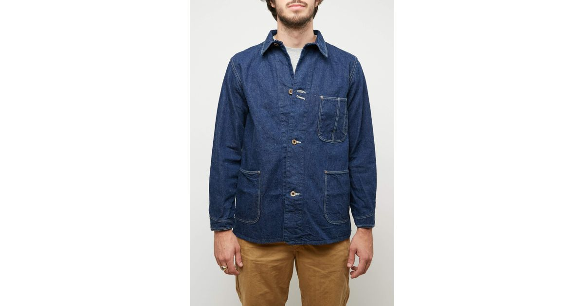 Orslow Denim 1940s Cover All Jacket In Blue For Men Lyst