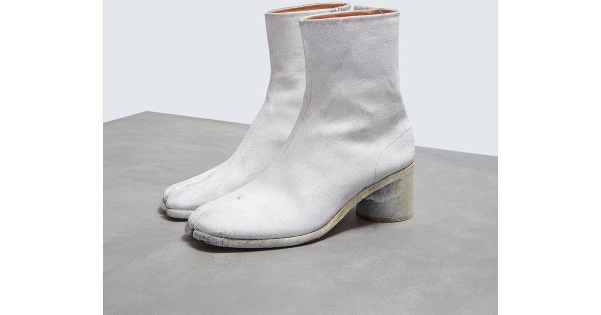 3d3d409fbba Maison Margiela Gray Tabi Boot for men