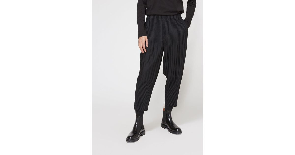 6819a092e Lyst - Homme Plissé Issey Miyake Basics Pleated Tapered Trouser in Black  for Men