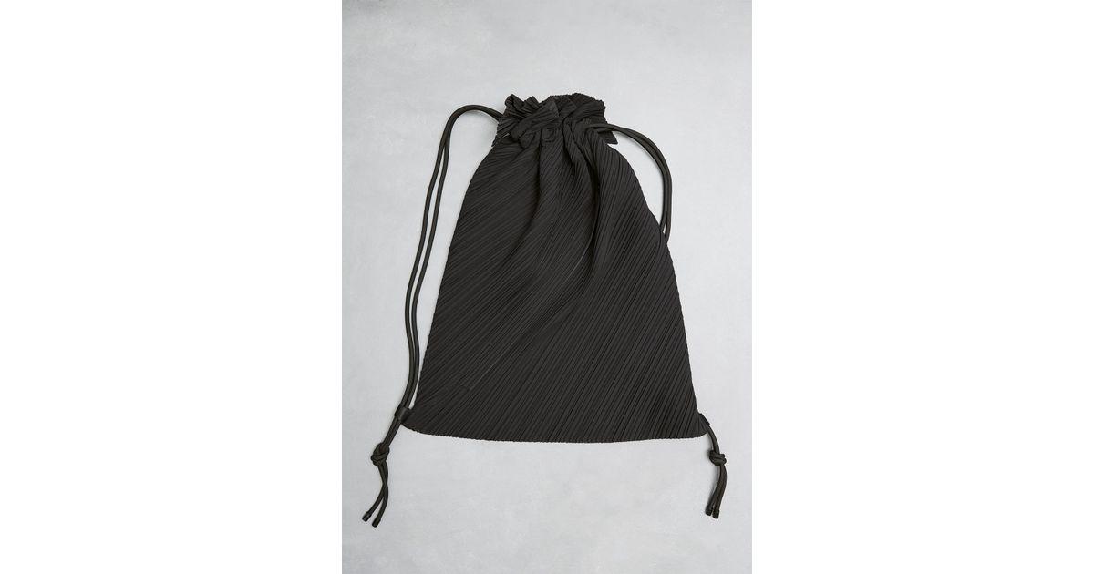 23703383bf Lyst - Pleats Please Issey Miyake Drawstring Pleats Bag in Black