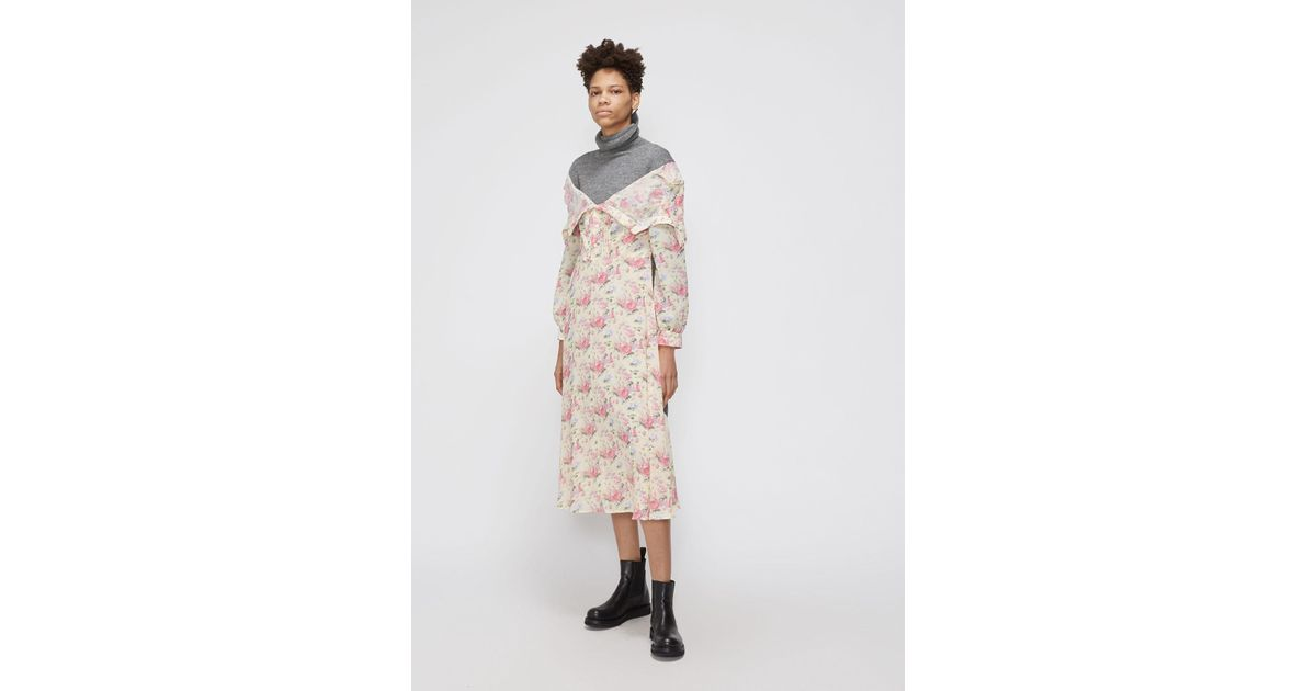 46d9c99c2f6 Lyst - Junya Watanabe Off Shoulder Dress in Yellow