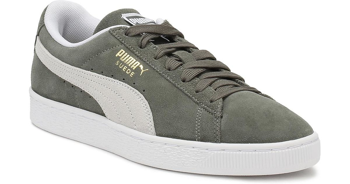 3507b5f3 PUMA Gray Mens Castor Grey Suede Classic Trainers Men's Shoes (trainers) In  Grey for men