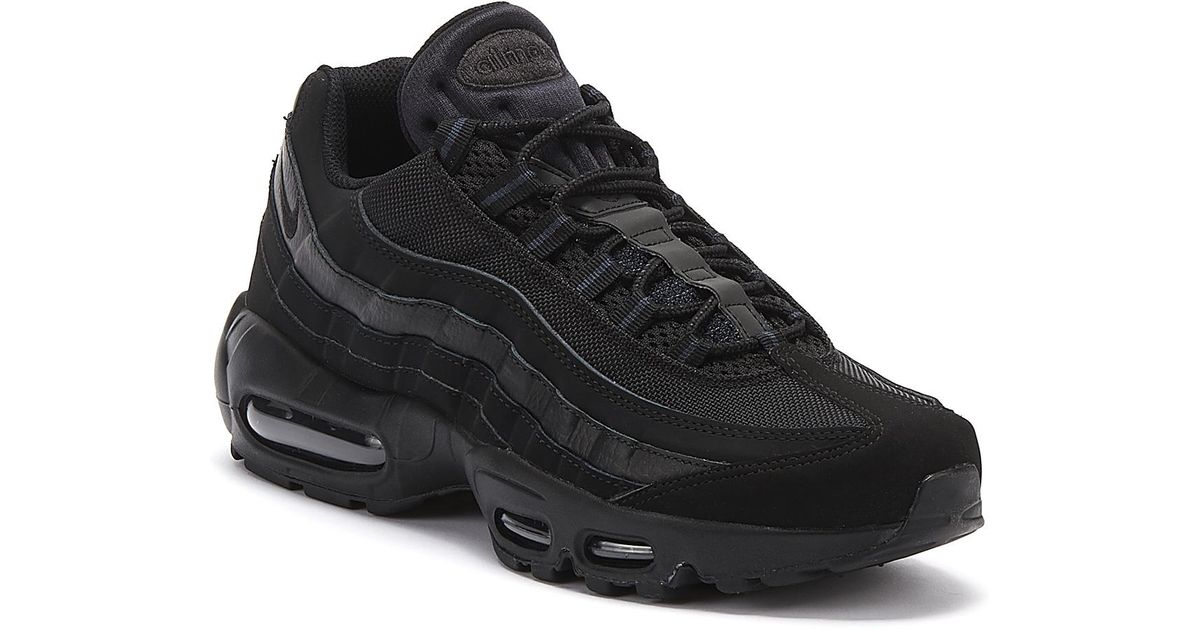 Nike Suede Air Max 95 Mens Black Trainers For Men Lyst
