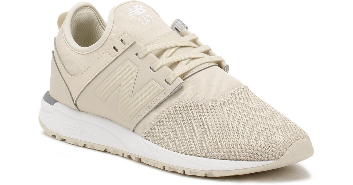 New Balance Womens Beige Bone / White 247 Classic Trainers