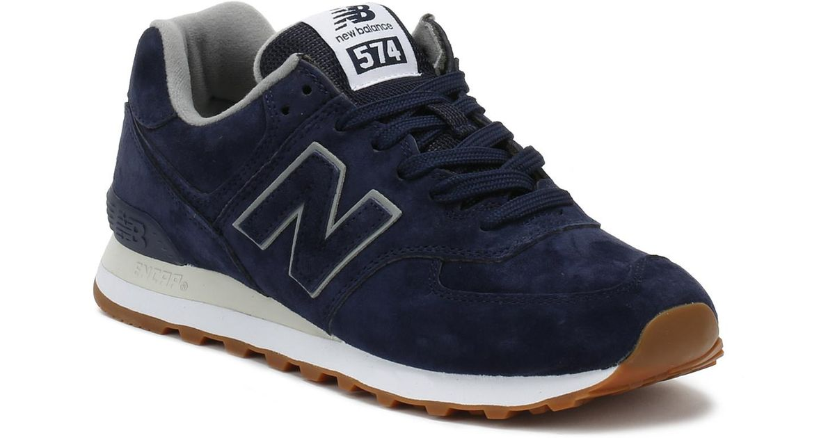 more photos ffb92 22a69 New Balance Mens Pigment Blue 574 Classic Trainers for men