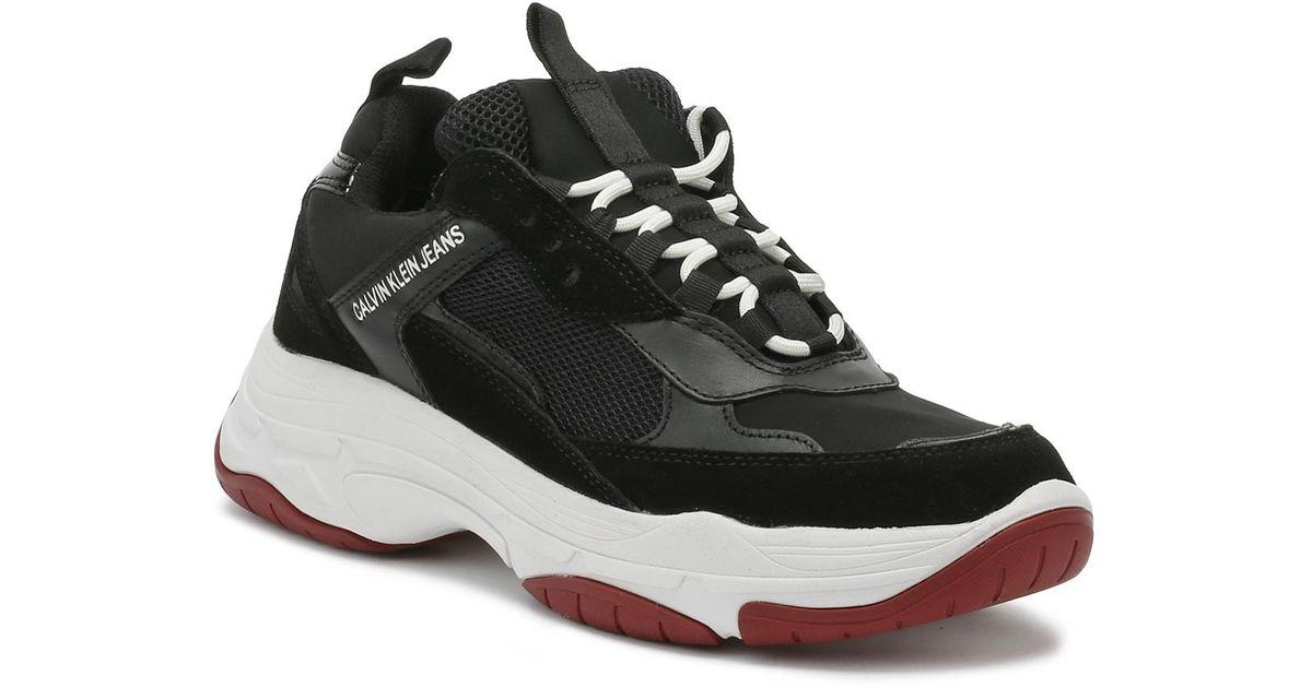 Mesh Suede Sneakers Black Maya Calvin Fashion Klein And qMGzVSUp