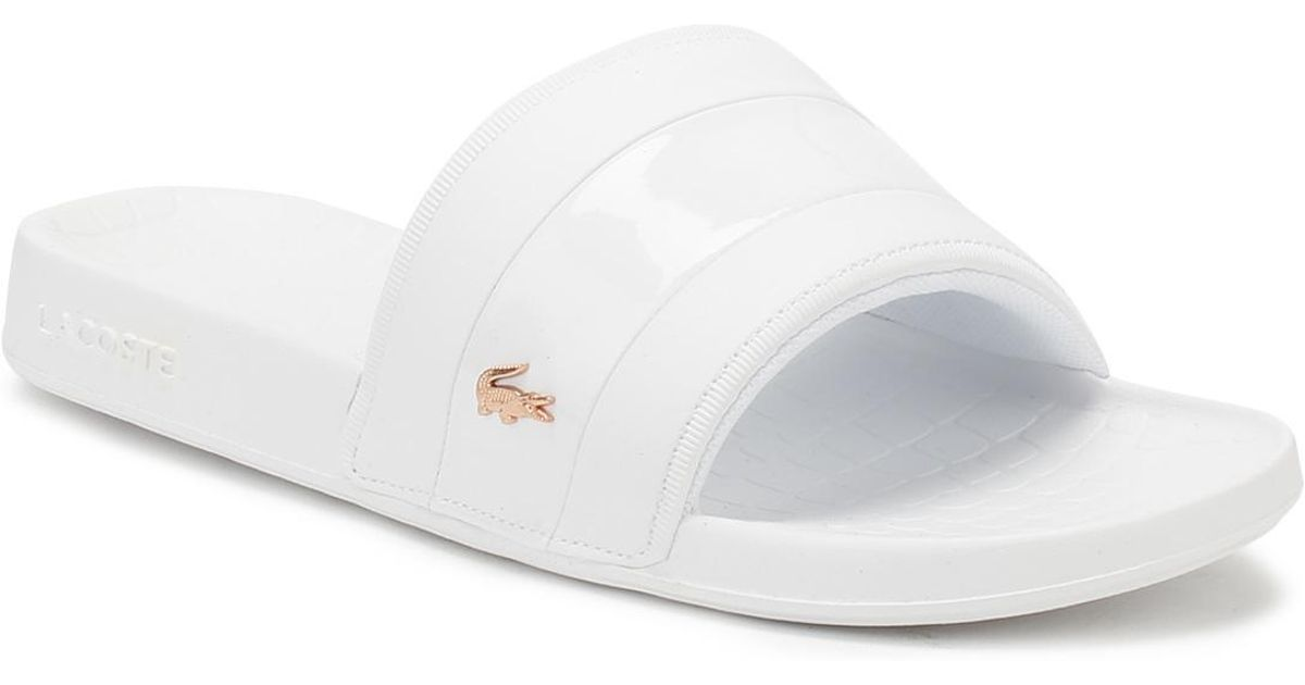 lacoste slippers womens