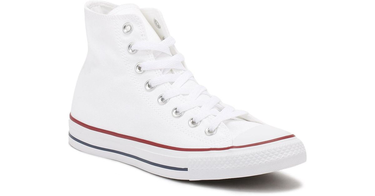 42dac073301b2 Converse All Star Hi Optical White Canvas Trainers for men