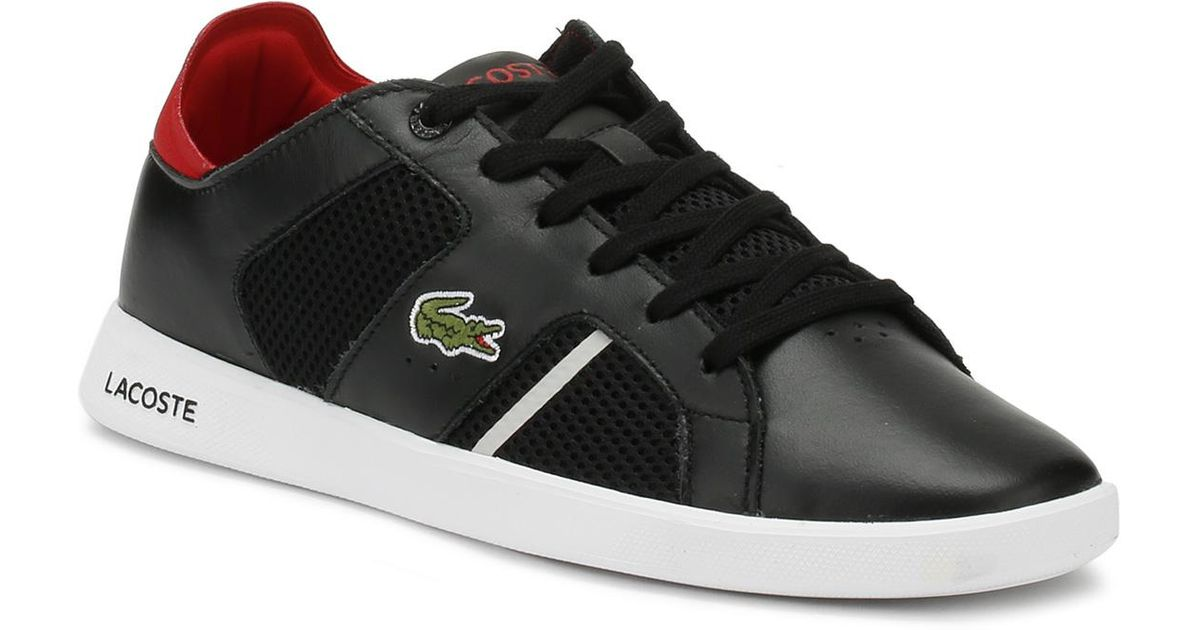 f3272b8ba11 Lyst - Lacoste Mens Black   Red Novas 218 1 Trainers Men s Shoes (trainers)  In Black in Black for Men - Save 12%