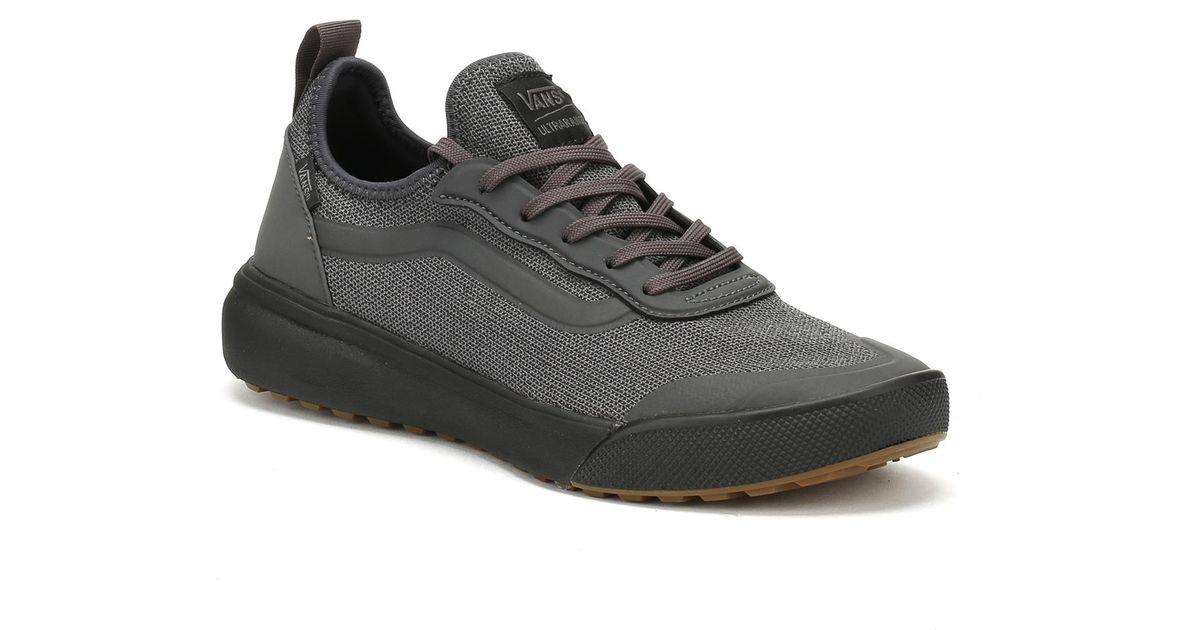 7c37d661e48 Lyst - Vans Mens Asphalt Black Knit Ultrarange Ac Trainers in Black for Men