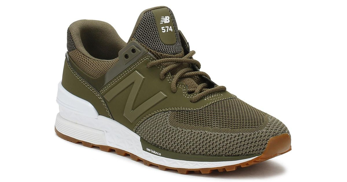 New Balance Green 574 Olive Trainers for men