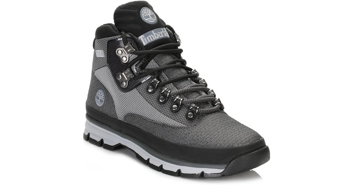 1456561c39f Timberland Gray Mens Grey Euro Hiker Jacquard Boots for men