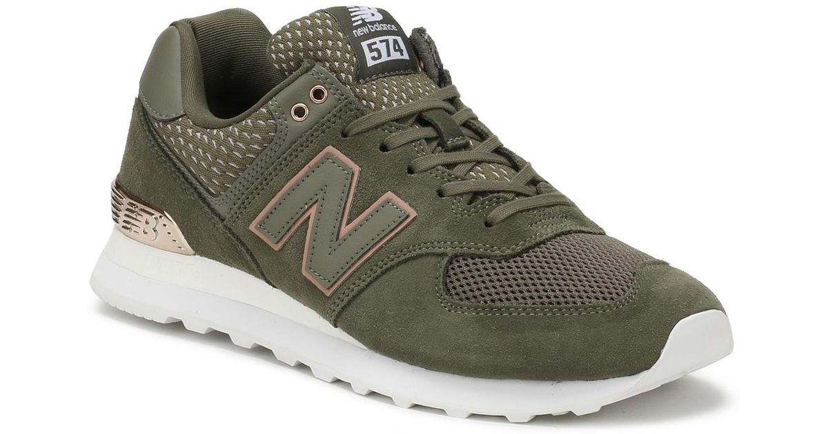 New Balance Suede Womens Military Green