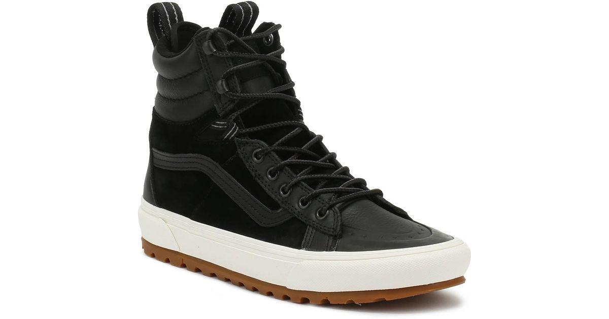 Lyst - Vans Sk8-hi Mte Dx Black Boots in Black for Men 6dec412fd27b