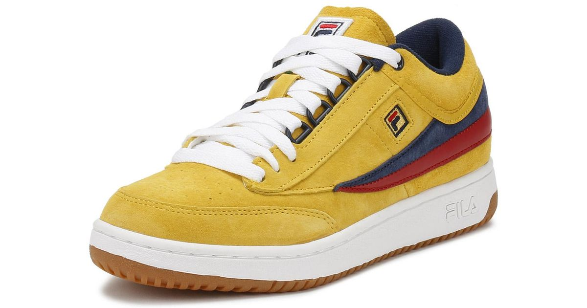 Fila Mens Lemon Chrome Yellow Original Fitness T1-mid Trainers for men