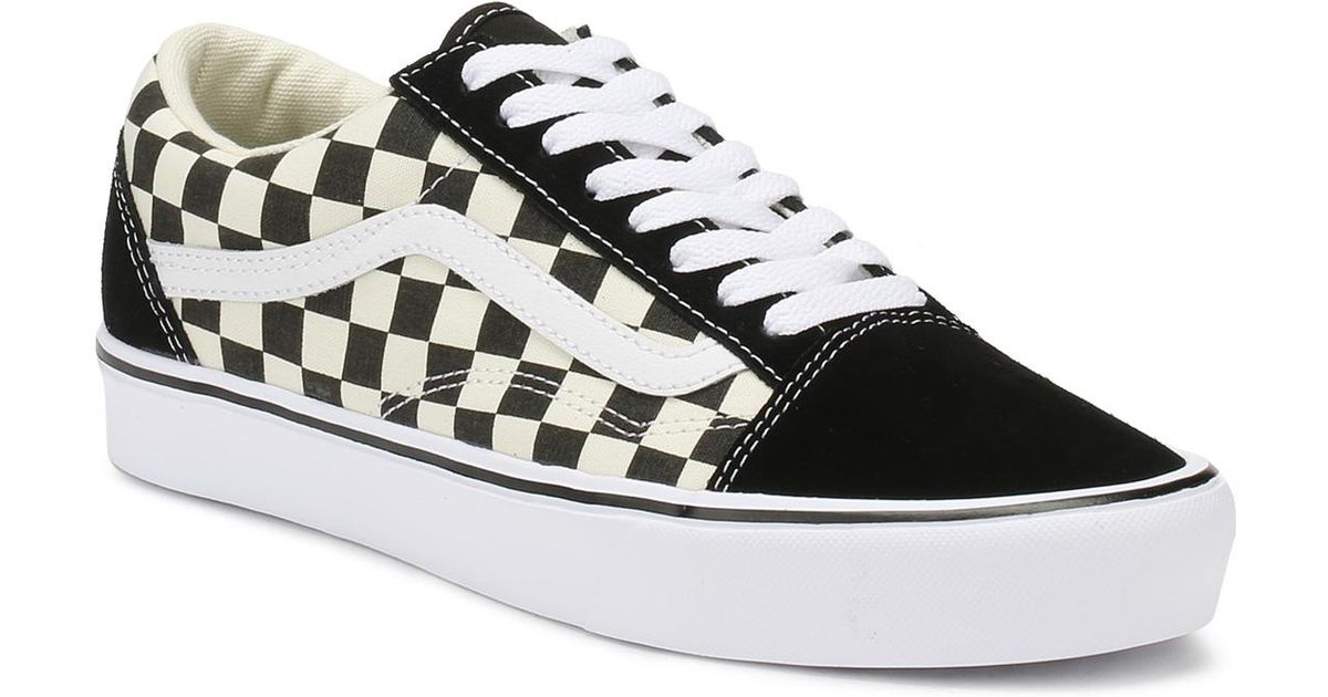 724f11f5013c17 Lyst - Vans Black   White Checkerboard Old Skool Lite Trainers in Black for  Men