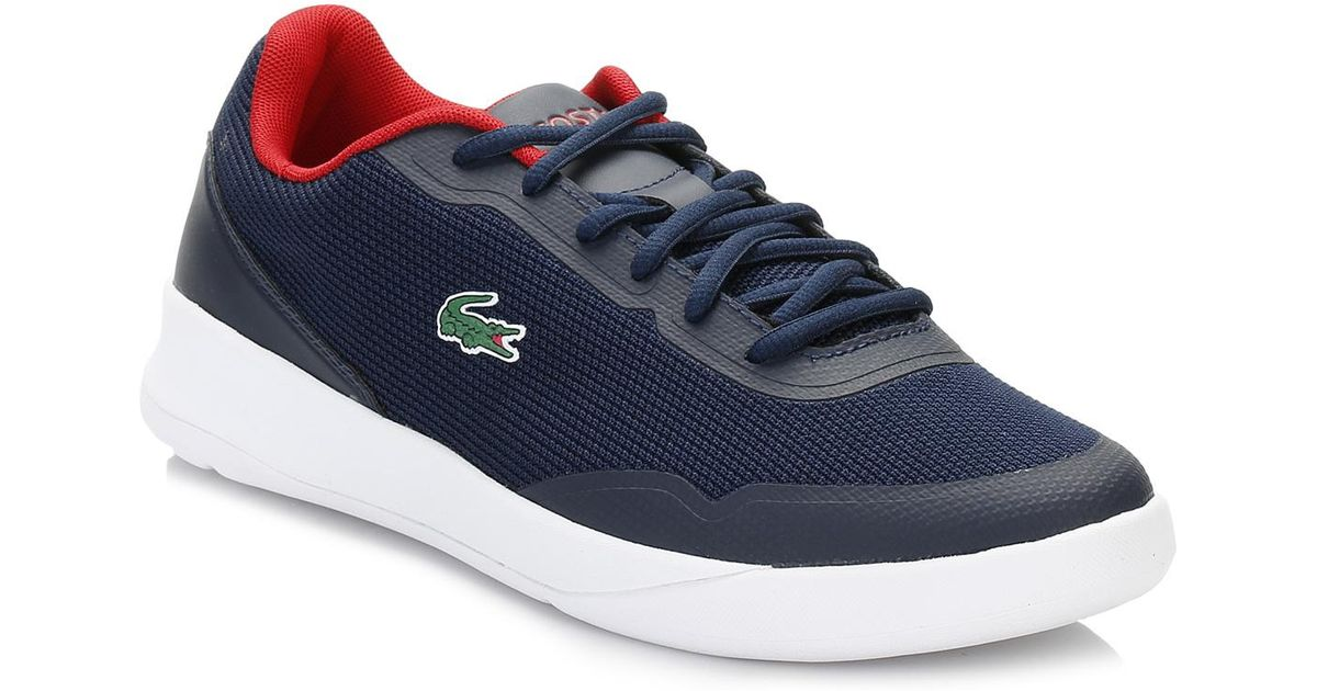 746a96ca5 Lacoste Mens Navy Lt Spirit 117 1 Spm Trainers in Blue for Men - Lyst
