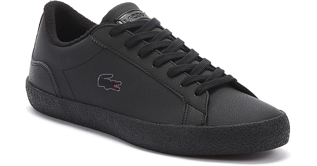 Lacoste Lerond 319 6 Mens Black Trainers Lace Up Sport Casual Shoes