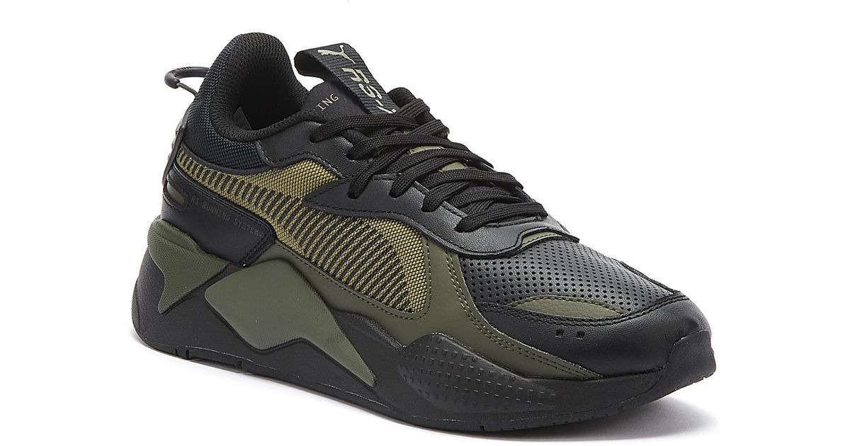 PUMA Rs-x Winterized Mens Black / Olive Trainers for men