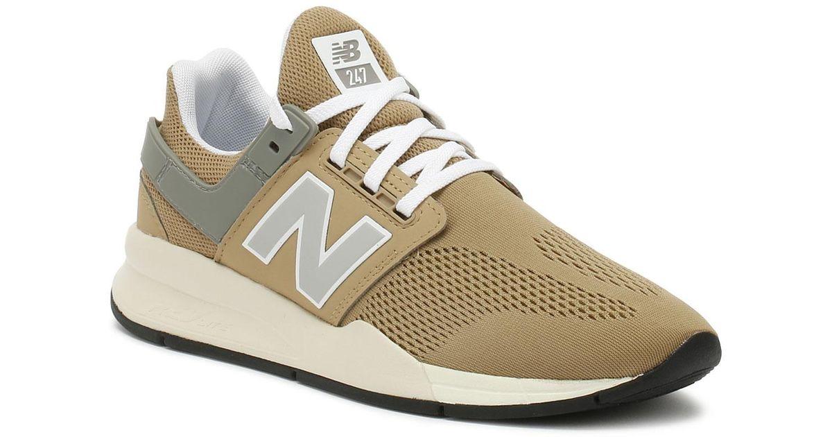 New Balance Natural Womens 247 Hemp Beige / Marblehead Sport Trainers