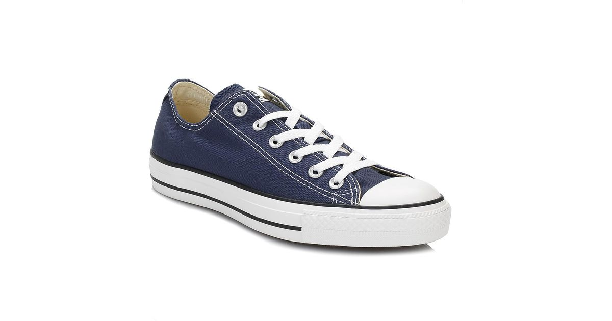 b843deff5f5 Converse Ct Low Navy Blue Canvas Trainers in Blue for Men - Lyst