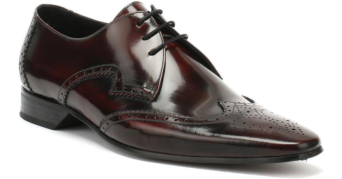 551dea38ad Lyst - Jeffery West Mens College Burgundy Escobar Brogue Derby Shoes for Men