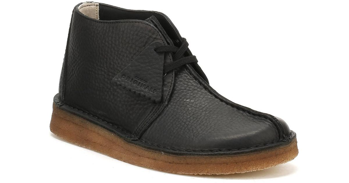 clarks desert black leather