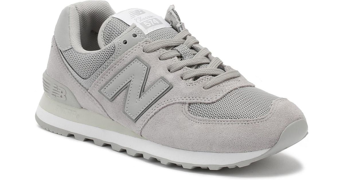 release date: cd3cf 7c354 New Balance Gray Mens Rain Cloud Grey 574 Classic Trainers for men