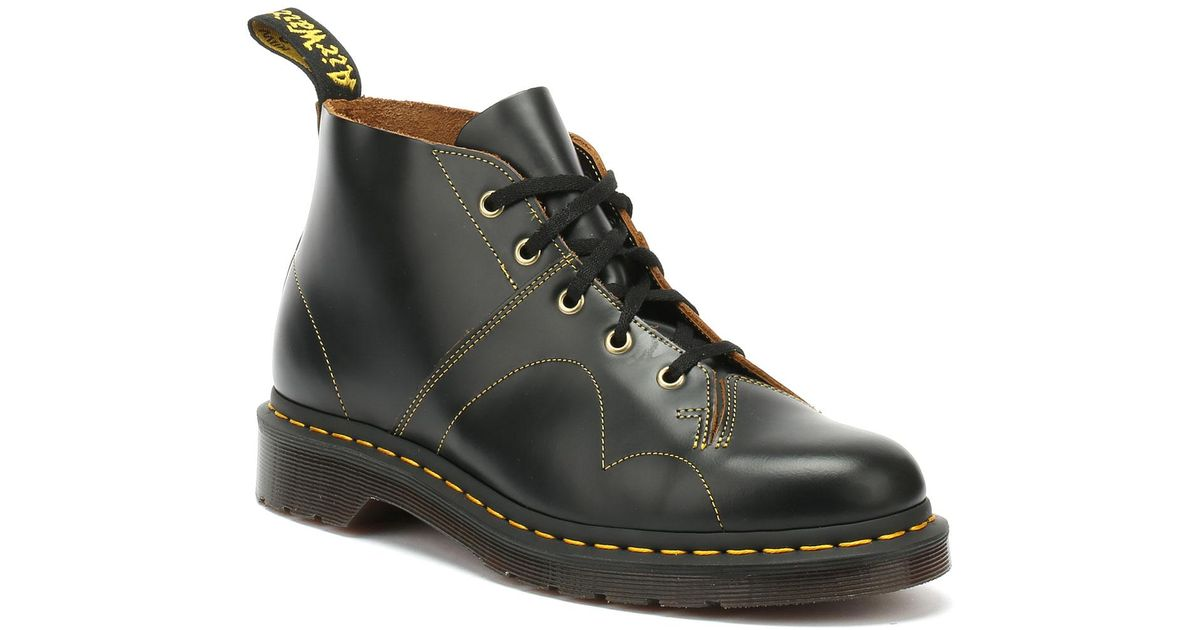e4ca6fa2 Dr. Martens Dr. Martens Church Vintage Smooth Black Boots in Black - Lyst