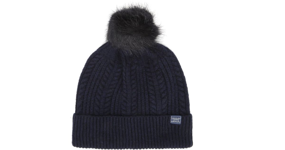 8e94ed377 Joules Blue French Navy Knitted Bobble Hat