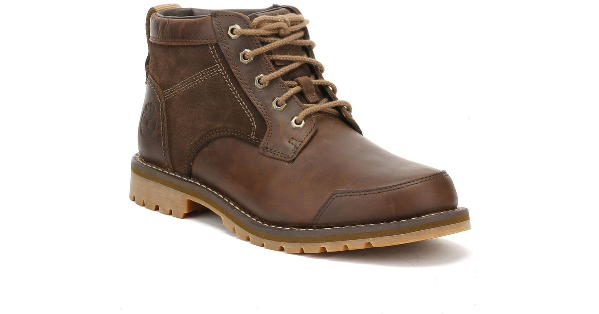 Timberland Mens Gaucho Dark Brown Larchmont Chukka Boots for men
