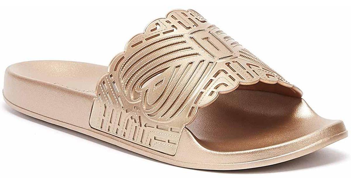 Womens Ted Baker Missley Slides Rose Gold Sandals
