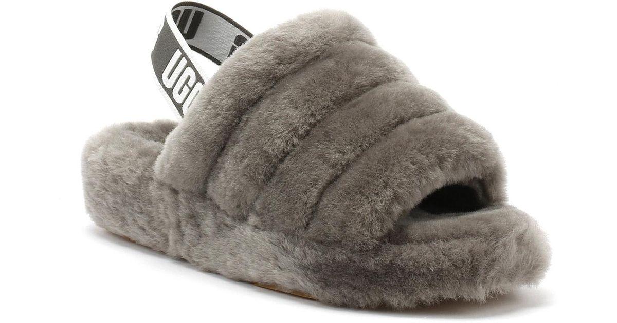 13d68f43609 Ugg Gray Fluff Yeah Slides