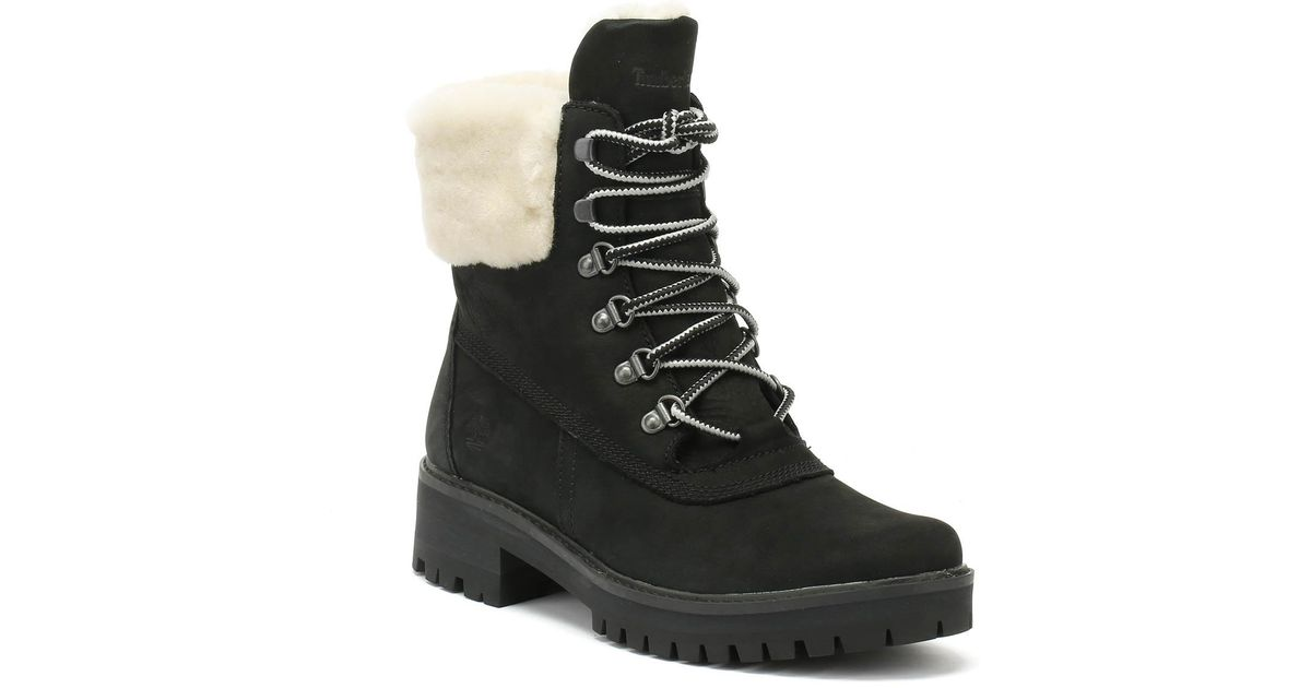 Timberland Courmayeur Valley Womens Shearling Black Boots in Black - Save  38.125% - Lyst 7099d0b565