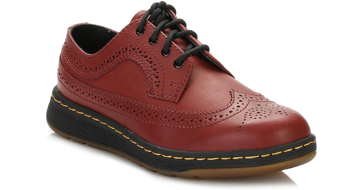 Lyst Dr Martens Dr Martens Cherry Red Gabe Wingtip Brogue Shoes