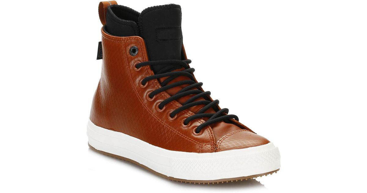 3ebd4cf74bf5 Lyst - Converse All Star Chuck Taylor Ii Mens Antique Brown Sepia Leather  Trainers in Brown for Men