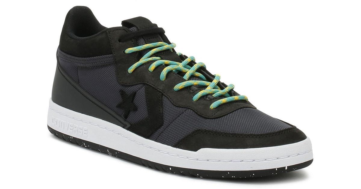 afd4e19ae6fb2a Lyst - Converse Fastbreak Mens Almost Black Mid Trainers in Black for Men