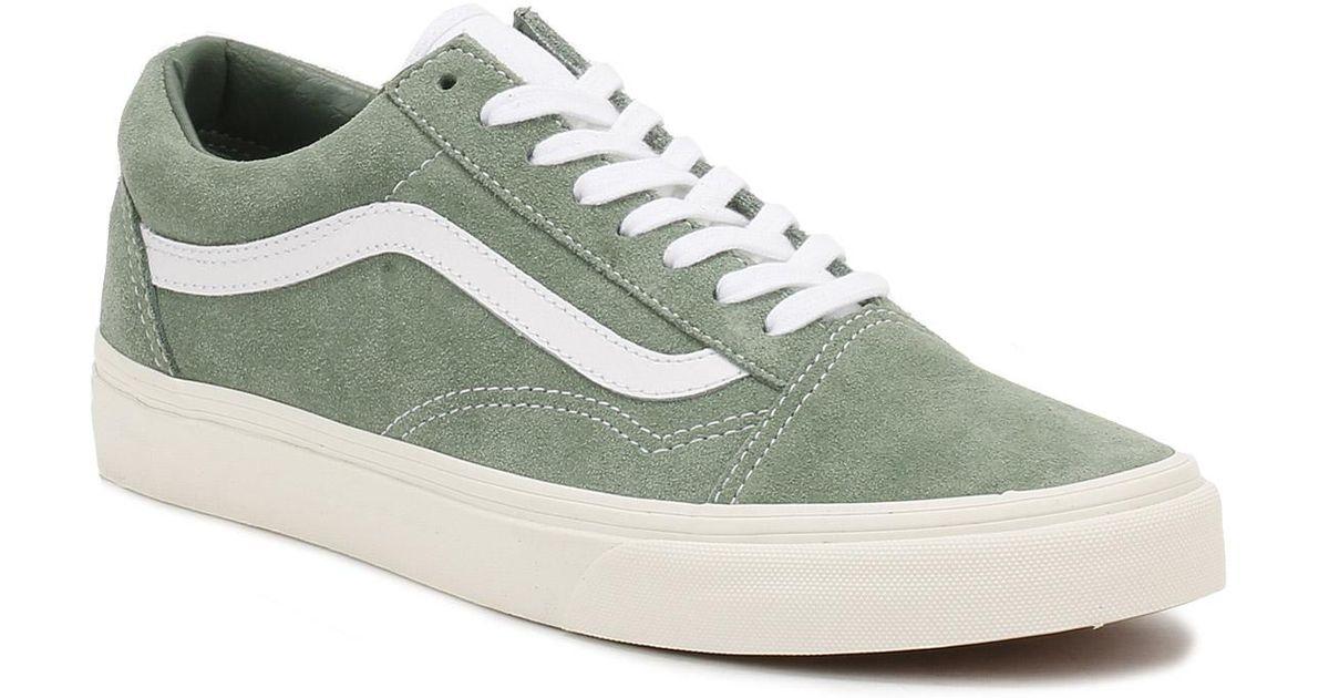 Lyst - Vans Womens Green   True White Retro Sport Suede Old Skool Trainers  in Green 552f06bea