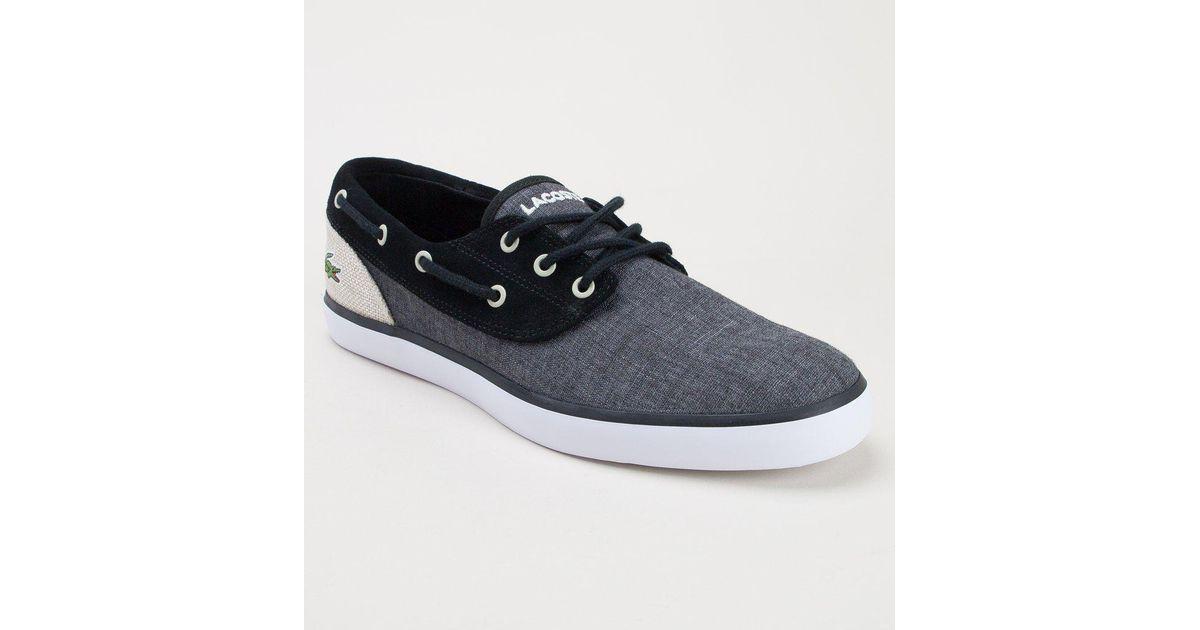 Lacoste Jouer Deck 218 1 Cam Blk-nat Shoes for Men - Lyst 20482eec17b
