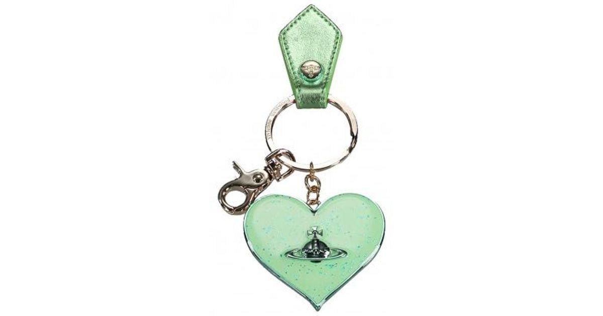 dcce37f9e9 Vivienne Westwood Mirror Heart Gadget in Green - Lyst