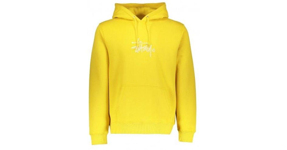 Hooded Sweatshirt Hoodie in Green in Size S,L Stussy Basic Copyright App