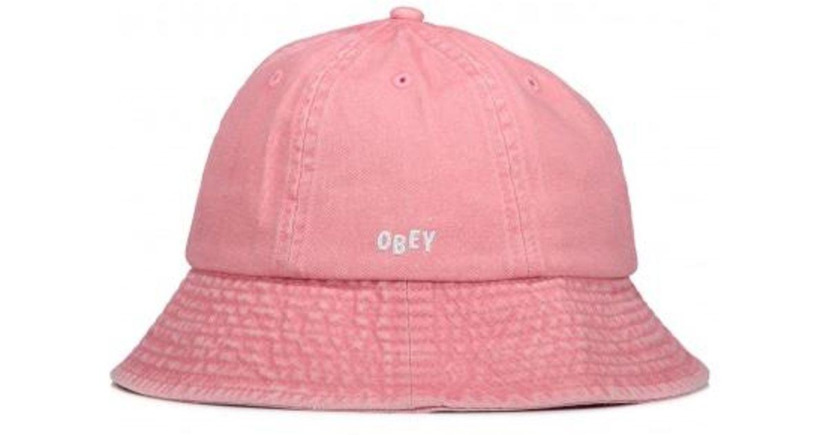 6ff6d87af412c Obey Decades Bucket Hat in Pink - Lyst