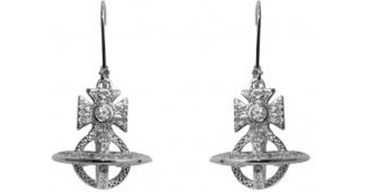 69e384a91 Vivienne Westwood Isabella Orb Earrings in Metallic - Lyst