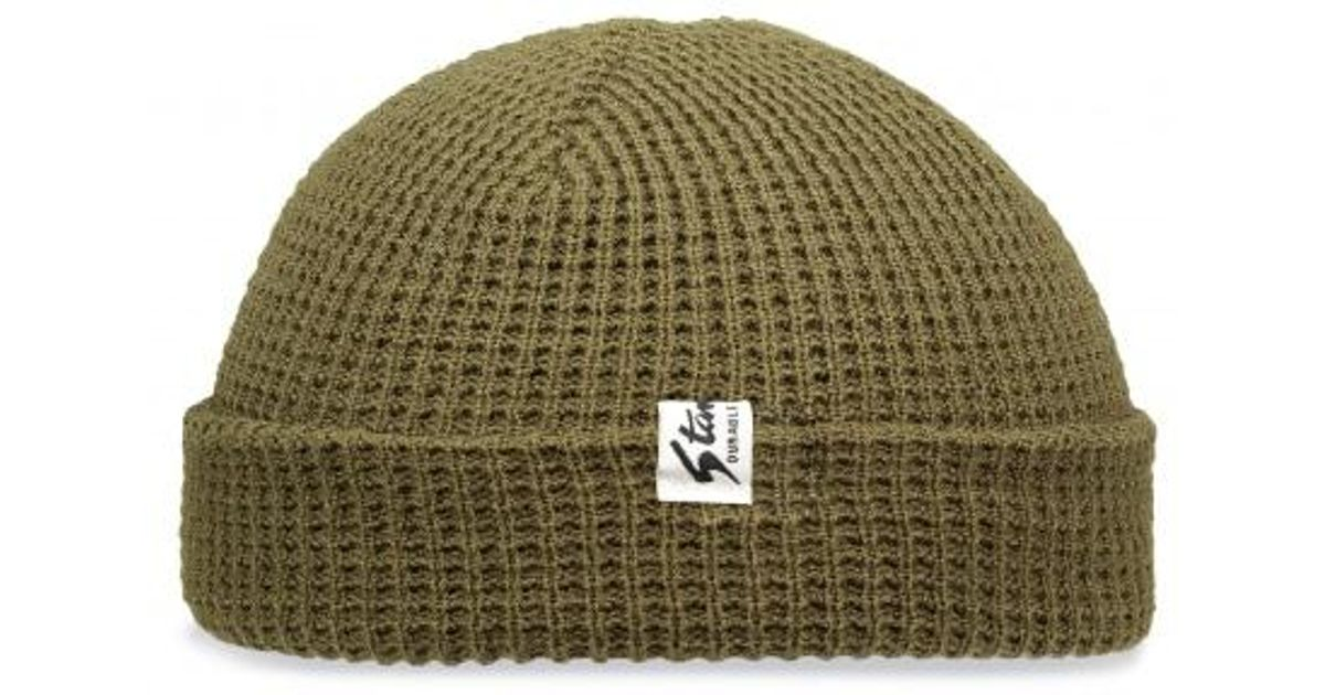080fa9c31a9 Lyst - Stan Ray Waffle Skull Cap Beanie in Green for Men