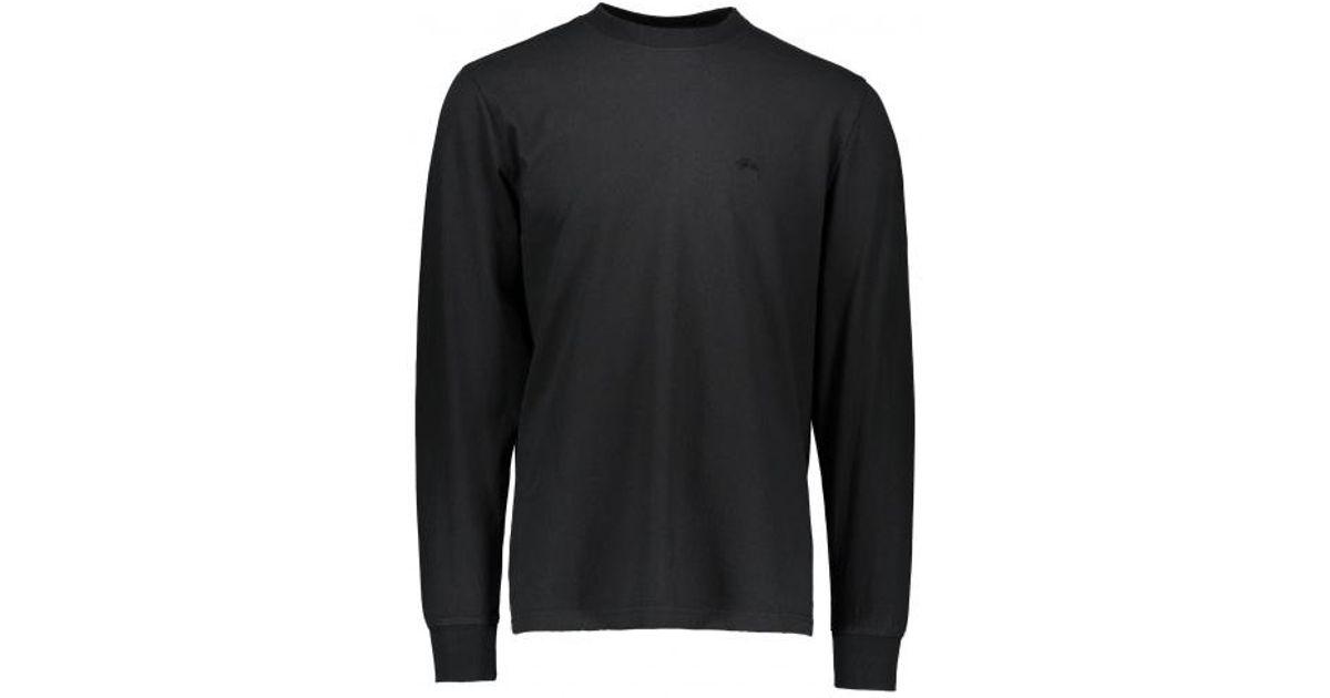 4de131aa Stussy Stock Ls Jersey in Black for Men - Lyst