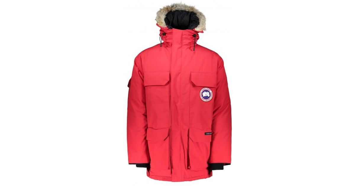 65385a11309 Canada Goose Expedition Parka in Red for Men - Lyst