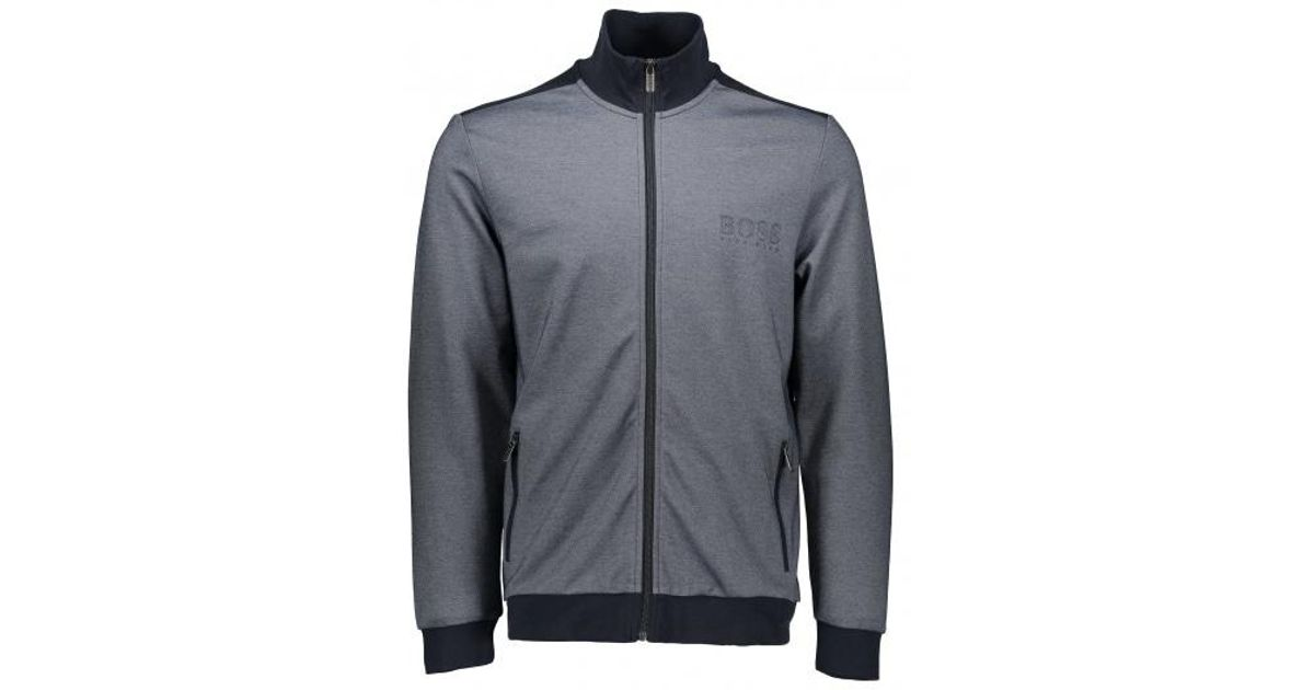 79a13ad5ffdf Boss Tracksuit Jacket in Blue for Men - Lyst